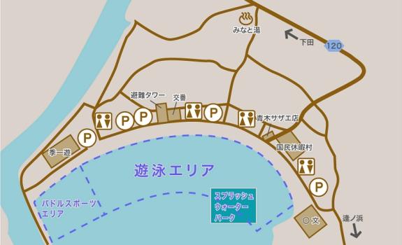弓ヶ浜海水浴場のマップ