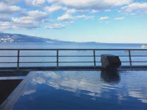 熱海の大成館の貸切風呂からの景色