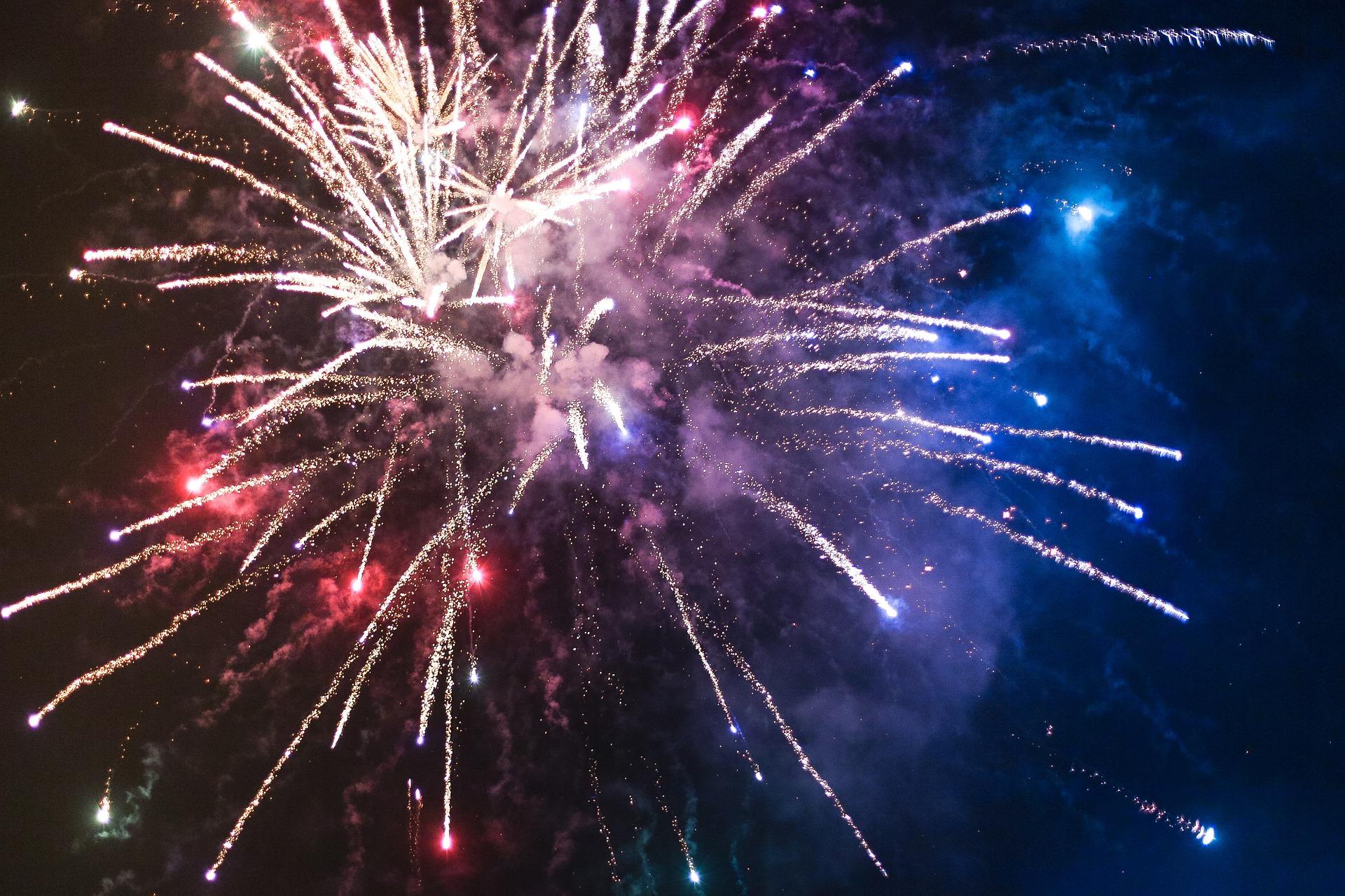 夜空に広がる大輪の美しい花火