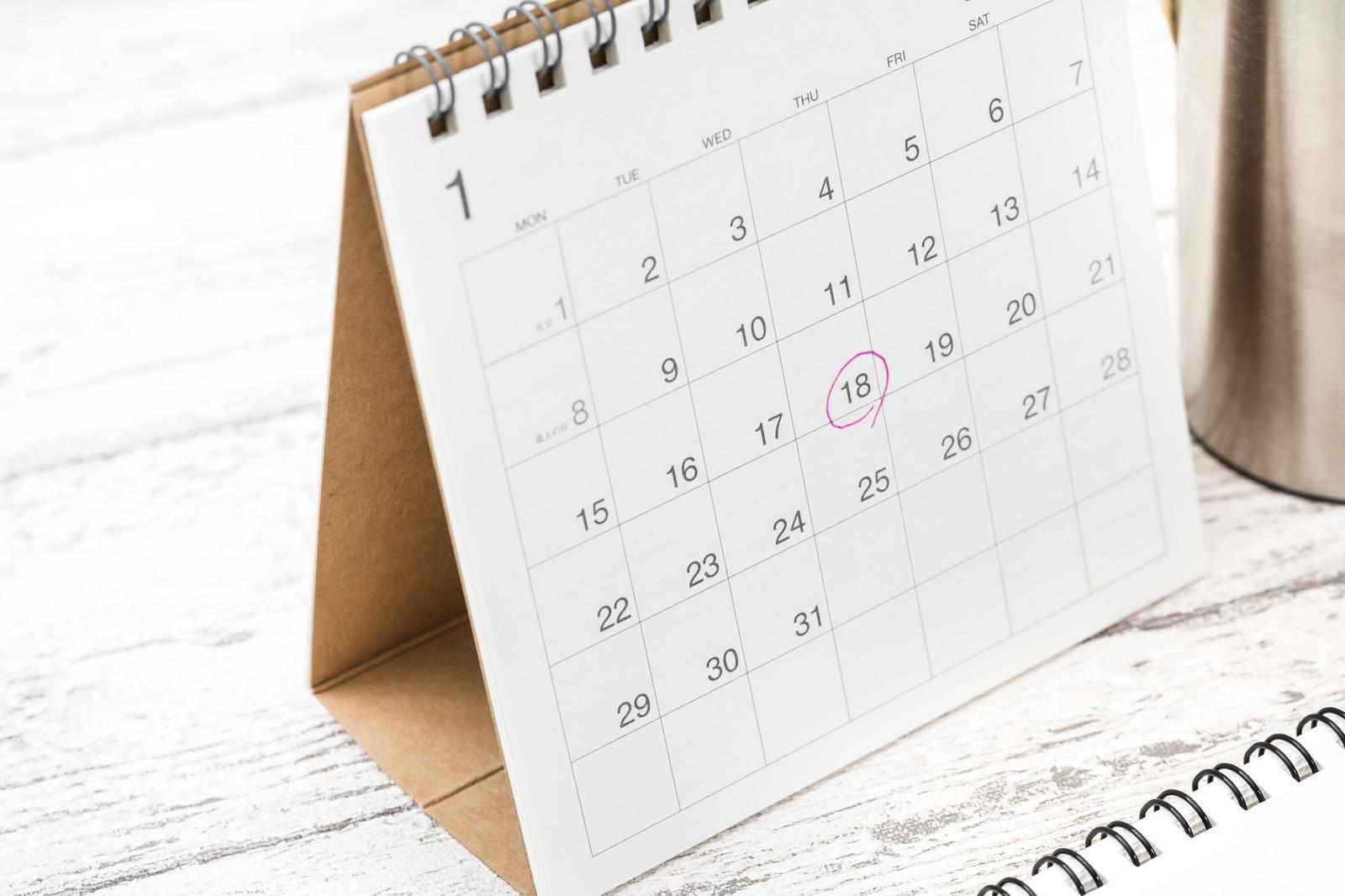 卓上カレンダーの画像