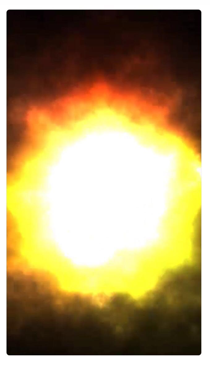爆弾スイッチが爆発した画像