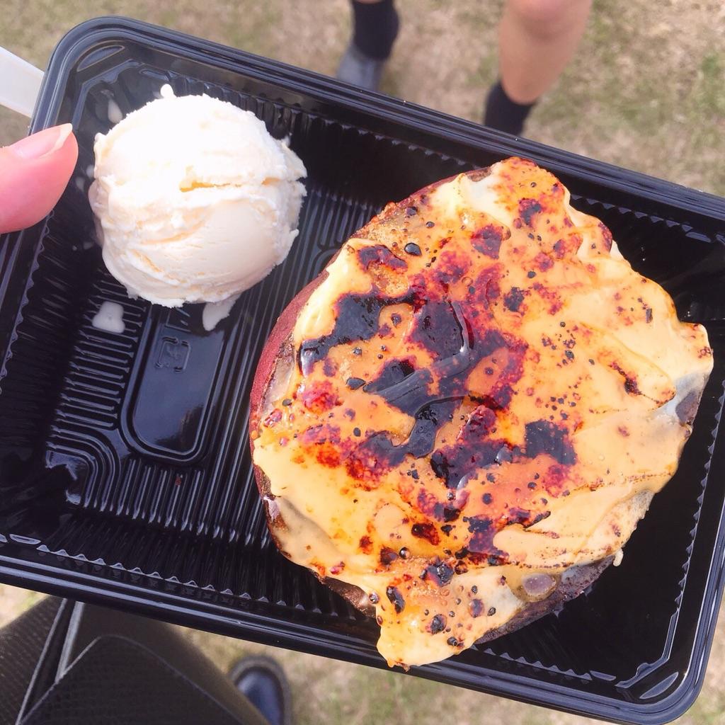 まんパクで食べたさつまいものクレームブリュレの写真