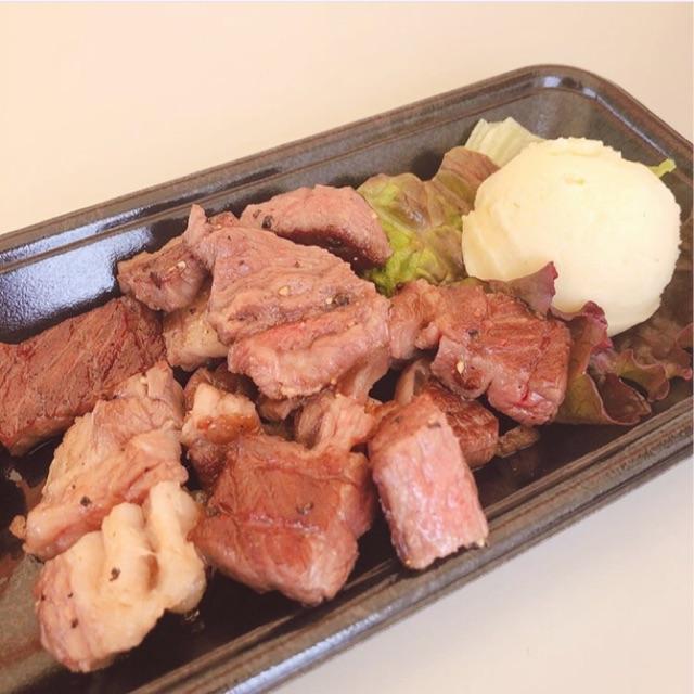 まんパクで食べたとろける和牛ステーキの写真
