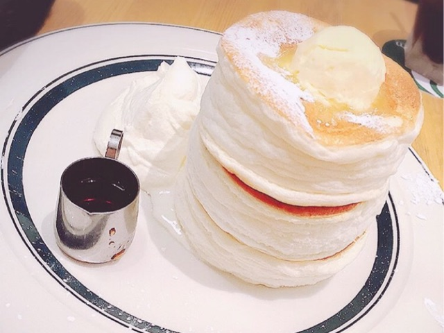 GRAMで食べることができる「プレミアムパンケーキ」の写真
