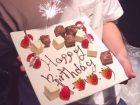 ブルーチェリーのサプライズケーキ(少人数用)