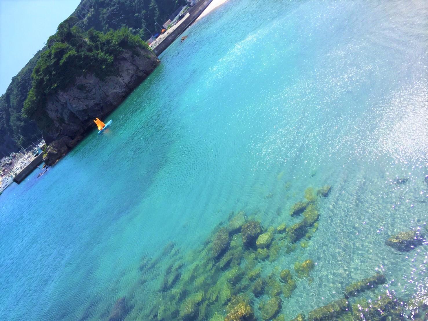 神津島の綺麗で透き通る海の画像