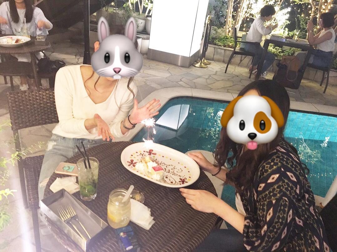 渋谷347cafeのお祝いプレートの画像