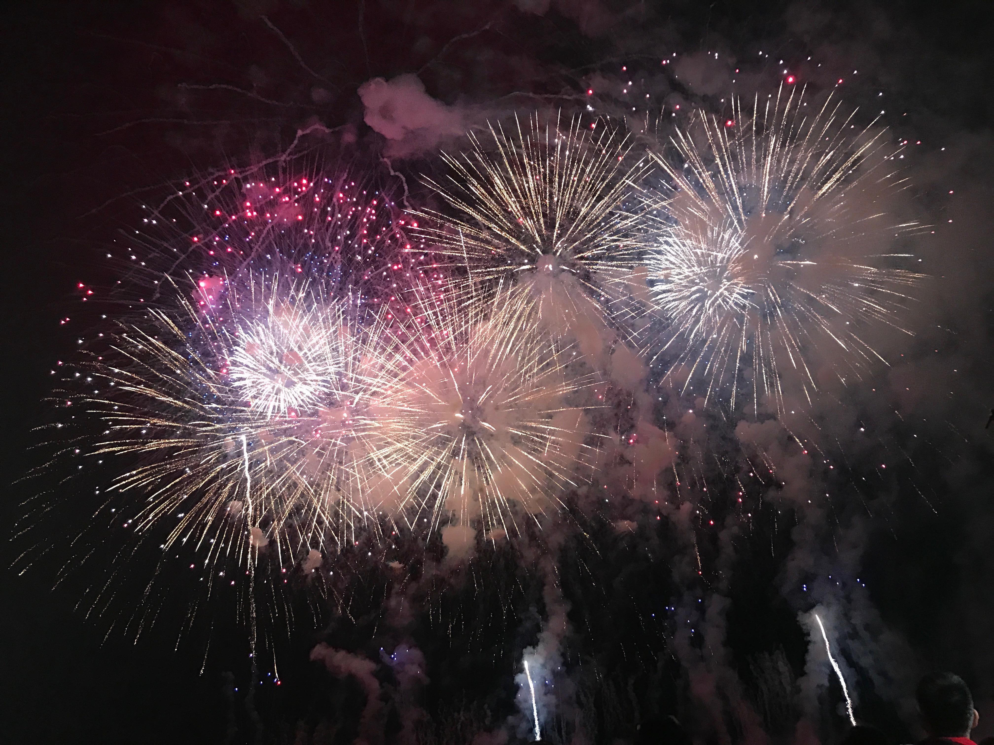 熊谷花火大会の打ち上げ花火の画像