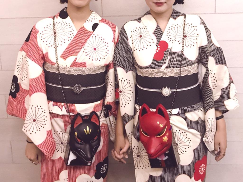KESATOKYOでレンタルしたおそろいの着物