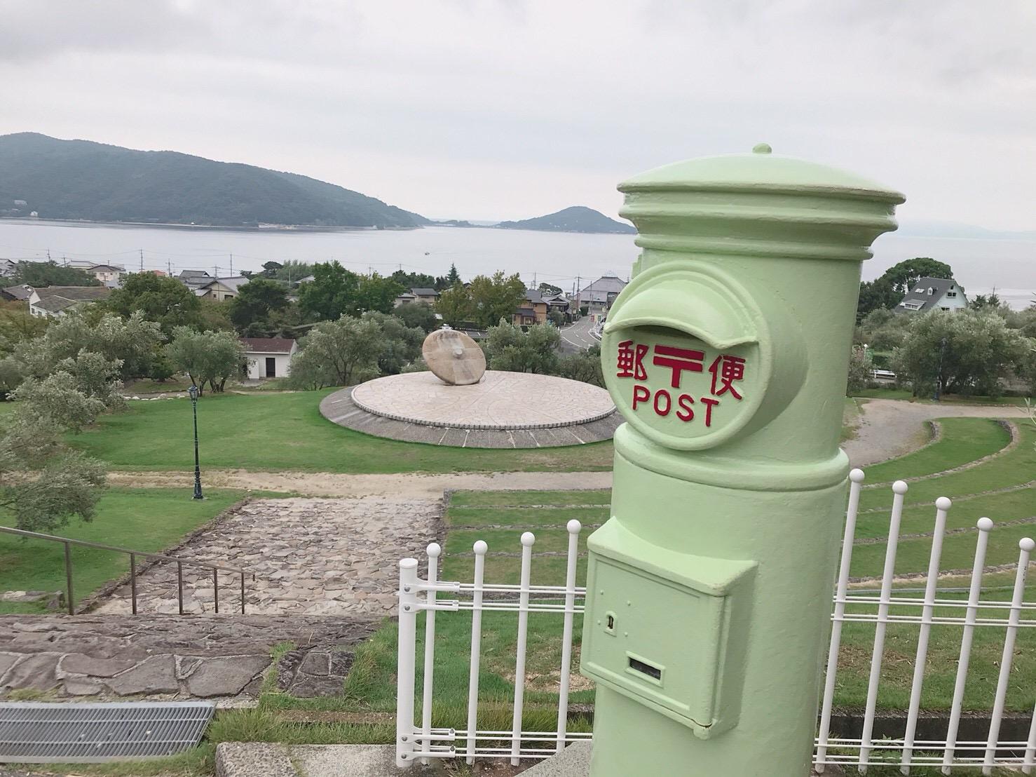 小豆島オリーブ公園の郵便ポストの画像