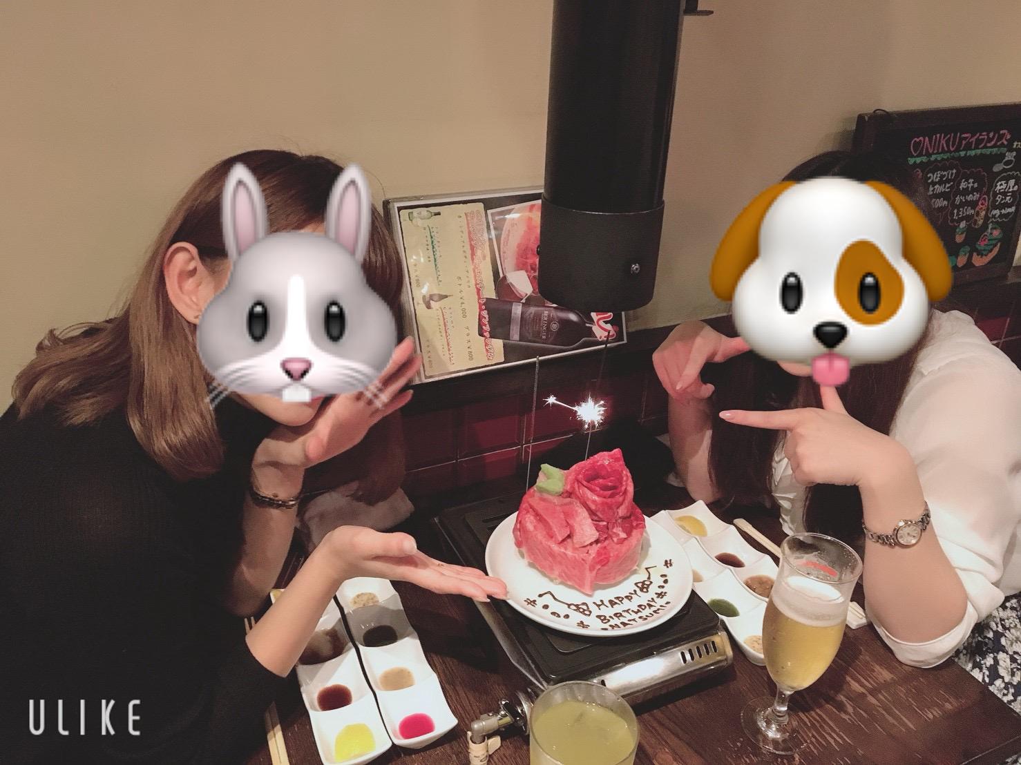 恵比寿ニクアザブの誕生日サプライズの肉ケーキの画像