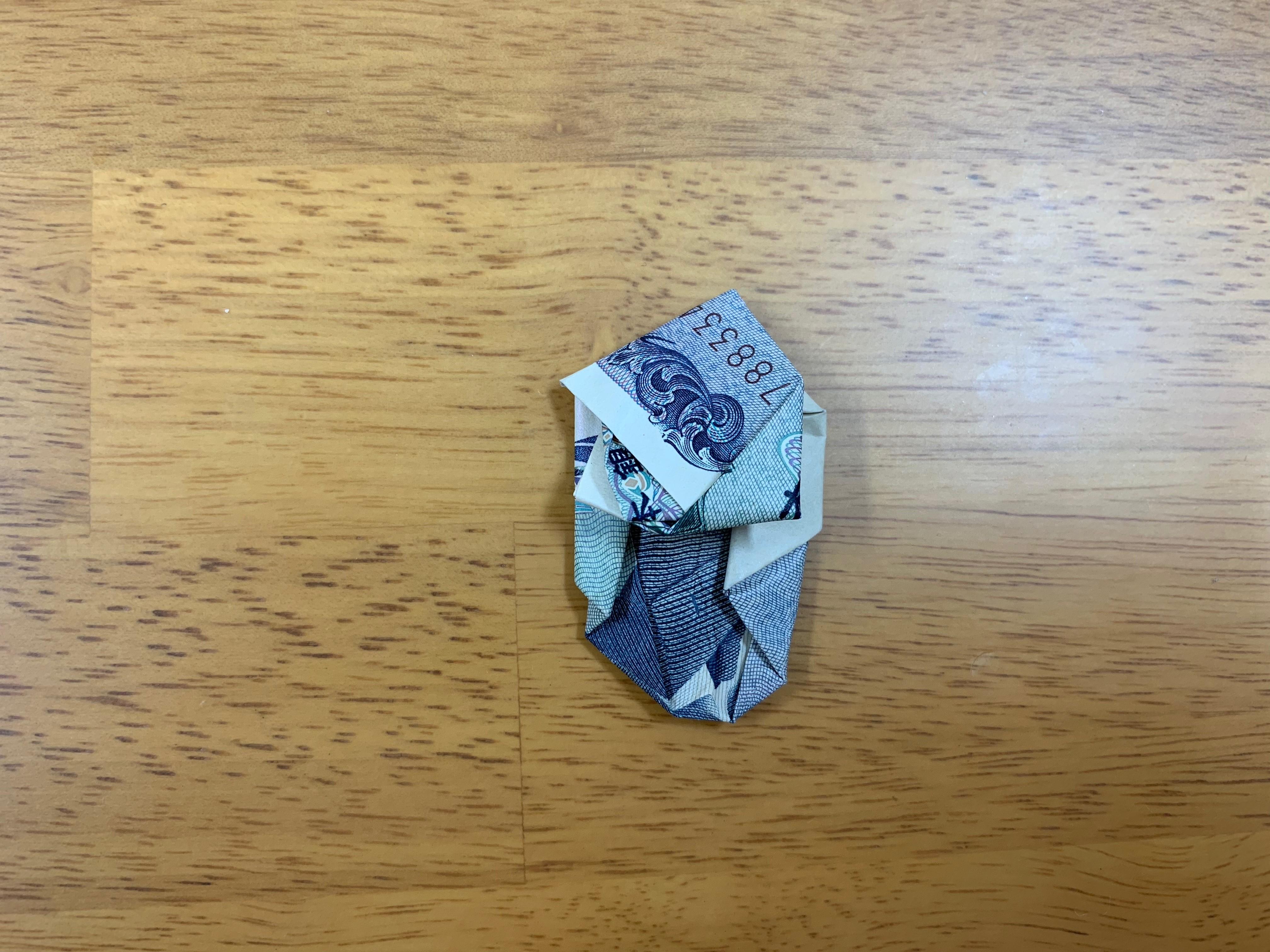 ターバン野口 お札 千円札のおもしろい折り方の画像16
