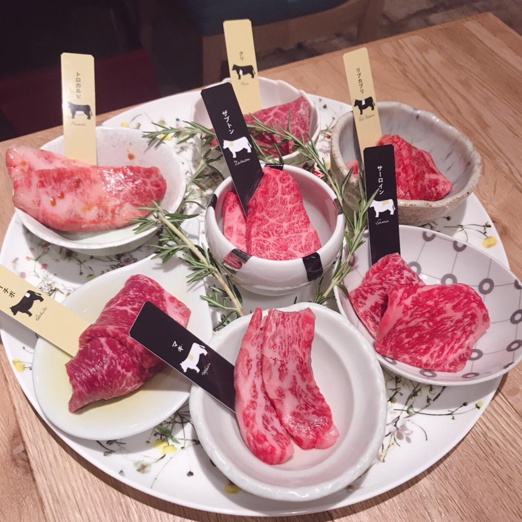 エイジングビーフの熟成和牛7種盛り合わせ