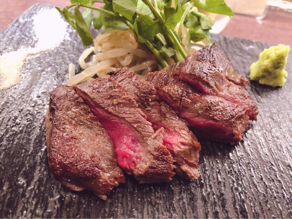 肉バルSYOUTAIAN『黒毛和牛の赤身ステーキ』