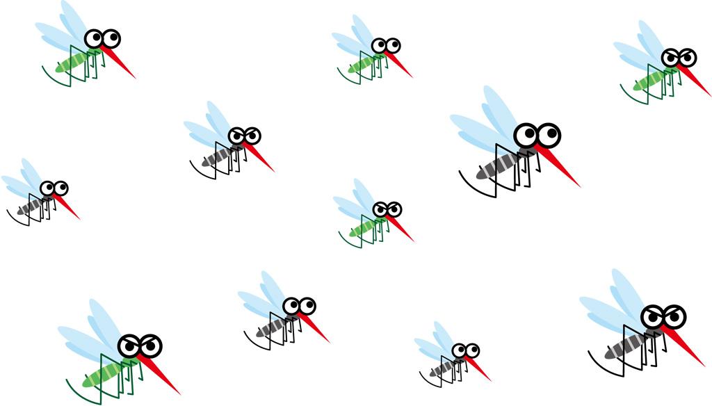 家に入り込んできた大量の蚊のイラスト