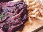 チキンレッグの牛ハラミステーキの写真