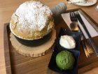 cafe KOMONの抹茶スフレパンケーキの画像